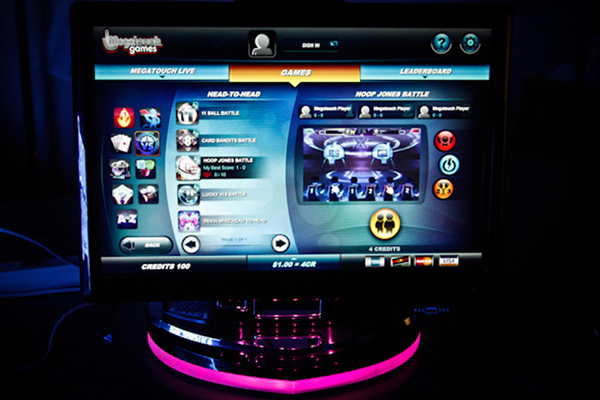 Megatouch, touch screen arcade game
