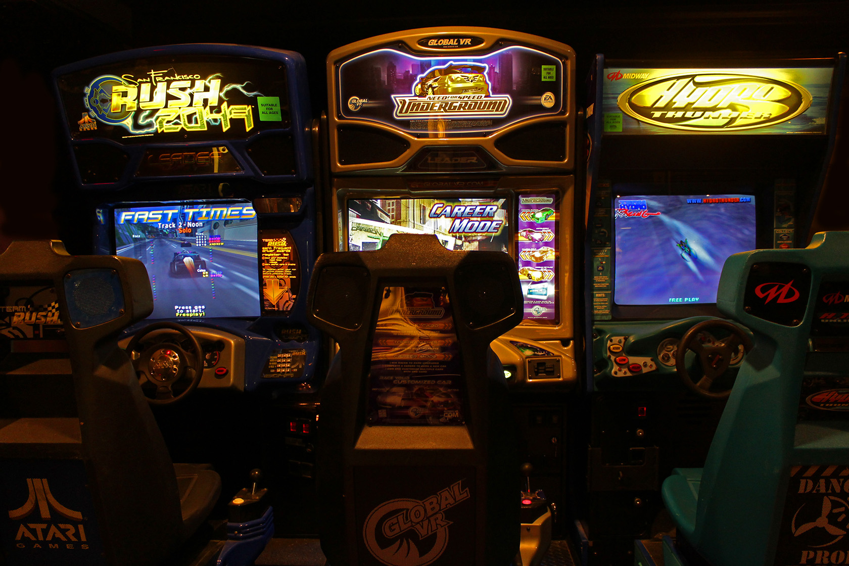 driving video arcade game